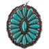 Howlite Oval Concho Pendant