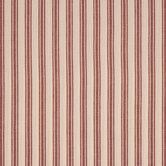 Red & White Classic Striped Cotton Calico Fabric