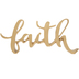 Metallic Gold Faith Decor