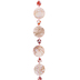 Pink Painted Coin Shell & Agate Bead Strand