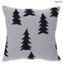 White & Black Christmas Tree Pillow