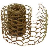 "Moss Green Chicken Wire Ribbon - 4"""