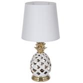 White & Gold Pineapple Lamp