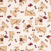 Dog Flannel Fabric