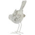 White Rustic Leaning Bird