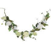 Green & White Peony & Hydrangea Garland