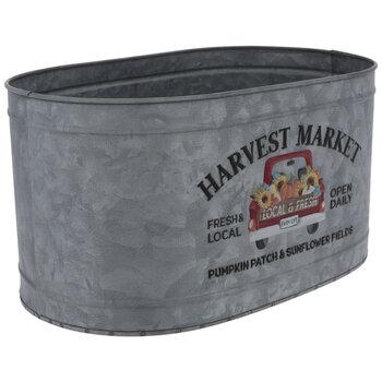 Harvest Market Galvanized Metal Container