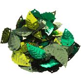 Green Summer Mix Leaf Sequins