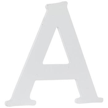 """White Wood Letter - 4 1/2"""""""