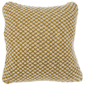 Mustard Plush Knit Pillow Cover