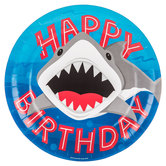 Shark Party Paper Plates - Large