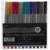 Mini Fineliner Markers - 12 Piece Set