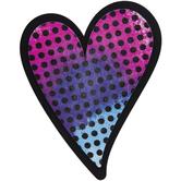 Polka Dot Heart Painted Wood Shape