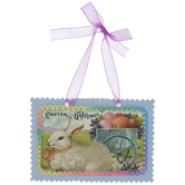 Easter Greetings With Bunny Ornament