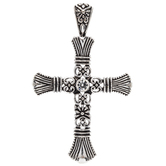 Ornate Flared Cross Pendant