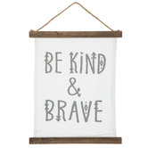 Be Kind & Brave Banner Wall Decor
