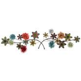 Flower Stem Metal Wall Decor