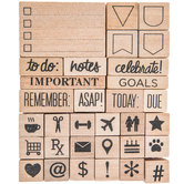 Planner Rubber Stamps