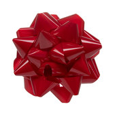 Candy Apple Red Lacquer Bow - 12""