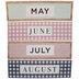 Farmhouse Month Calendar Headers