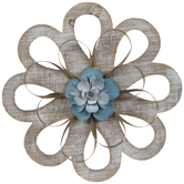 Whitewash Rustic Flower Wood Wall Decor