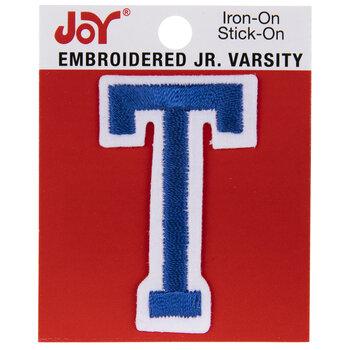 "Blue Junior Varsity Letter Iron-On Applique T - 2"""