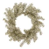 Mini Gold & Silver Tinsel Wreath