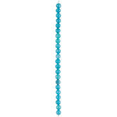 Blue Dyed Agate Faceted Bead Strand