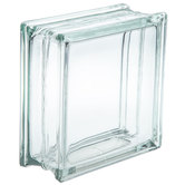 "Glass Block with Hole - 8"" x 8"""