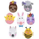 Easter Animals Felt Stickers