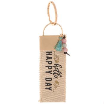 Hello Happy Day Keychain