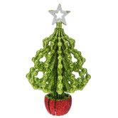 Green Glitter Tree Ornament