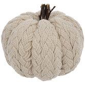 Cream Knit Pumpkin