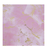 "Pink & Gold Foil Marble Scrapbook Paper - 12"" x 12"""
