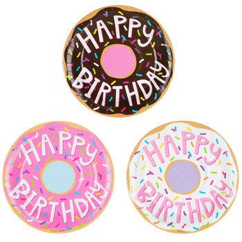 Donut Paper Plates - Large