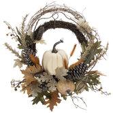 Pumpkin & Pinecone Twig Wreath