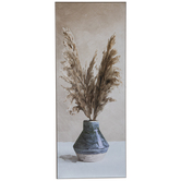 Pampas Stems In Vase Wood Wall Decor