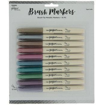 Jewel Tone Metallic Brush Markers - 10 Piece Set