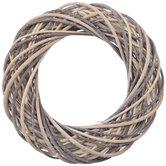 Beige & Brown Woven Wicker Wreath