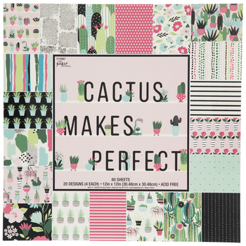 "Cactus Makes Perfect Paper Pack - 12"" x 12"""
