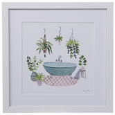 Plants Around Bathtub Framed Wall Decor