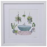 Plants Around Bathtub Framed Wall Decor
