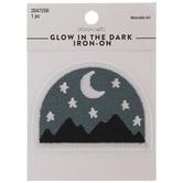 Mountains Glow-In-The-Dark Iron-On Applique
