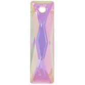 Crystal Paradise Shine Queen Baguette Pendant - 25mm x 7mm
