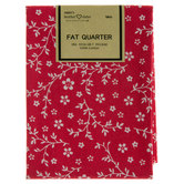Red Floral Fat Quarter Cotton Fabric