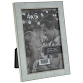 """Mother Of Pearl Metal Frame - 4"""" x 6"""""""