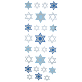 Star Of David Metallic Stickers