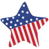 Patriotic Star Painted Wood Shape