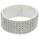 Rhinestone Cup Chain Bracelet