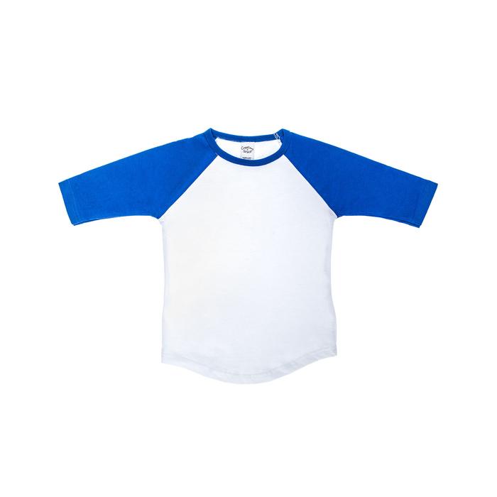 Blue green teal yellow pastel stripes raglan baseball t-shirt handsewn boys outfit